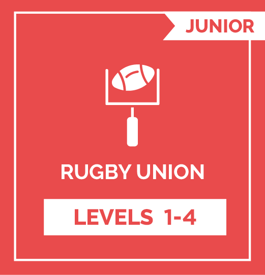 Rugby Union JR - Levels 1 - 4